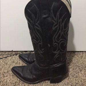 Sheplers Cowboy Boots Size 8M Black